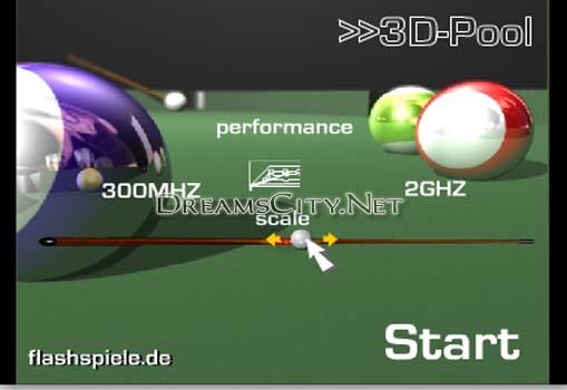 لعبة بلياردو ثلاثية الابعاد