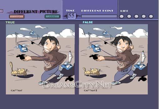 لعبة اختلافات الصور