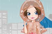 لعبة تلبيس ملابس المطر